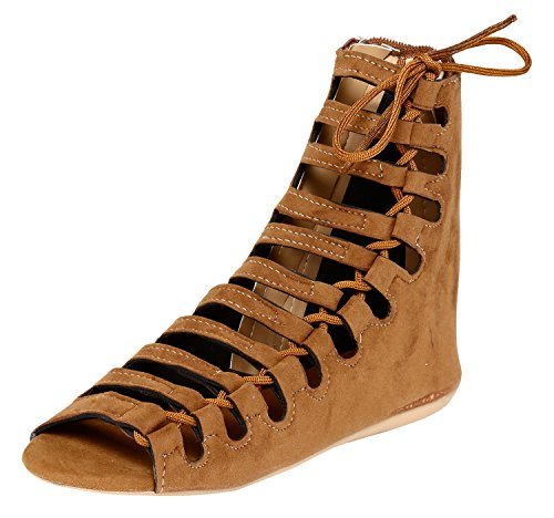 Jade Women's Tan Fashion Sandal - 39