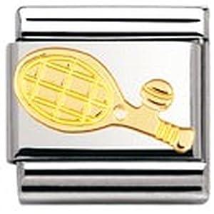 Nomination Composable Classic SPORT Edelstahl und 18K-Gold (Tennisschlager) 030106