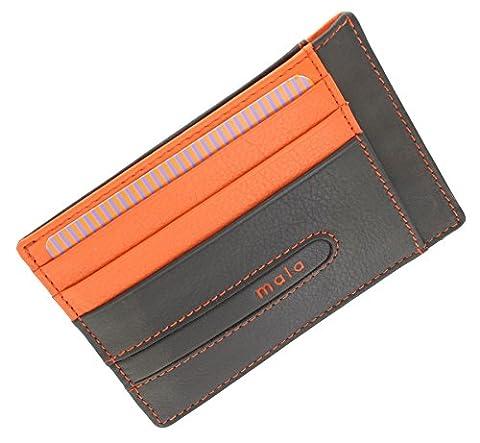 Mala Leather Collection AXIS Porte-carte de Crédit Mince 615_42 Marron/Orange