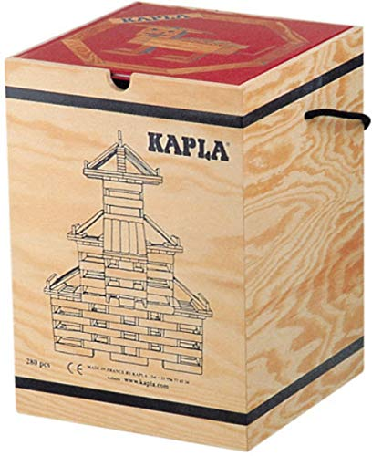 KAPLA 280 Steine in Holzkiste mit Kunstbuch