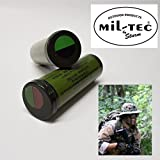 TRUCCO MILITARE MIL TEC Viso per Softair Camouflage (NERO VERDE)