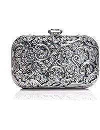 28adf5e99 Bolsos de Fiesta de Noche Embrague con diseño Brillante Bolso Bandolera  Brillante para Mujer Bolso de