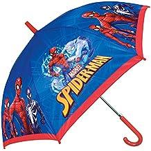 Paraguas Largo para Niño Marvel Spiderman - Paraguas Resistente y Antiviento con el Hombre Araña -