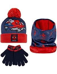 Marvel Spiderman Hat, Gloves And Snood Set For Boys, Official Spiderman Winter Set