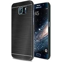 vau BackShield - black metall - Hülle Case mit Metallapplikation für Samsung Galaxy S6