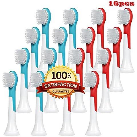 Beauty Nymph genérico de alta calidad reemplazo cabeza de cepillo de dientes eléctrica compatible con Philips Sonicare Hx-6034 / HX6032 Sonicare para niños cabezales de cepillo