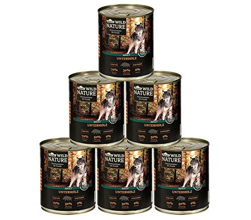 Dehner Wild Nature Hundefutter Adult, Unterholz, 6 x 400 g (2,4 kg)
