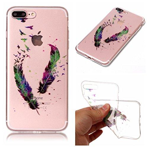 """Coque pour Apple iPhone 7 Plus , IJIA Transparent Scintillement Bling Dreamcatcher TPU Doux Silicone Bumper Case Cover Shell Housse Etui pour Apple iPhone 7 Plus (5.5"""") FD1"""