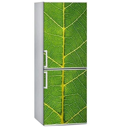JY ART Autocollant Mural Autocollants de Porte de réfrigérateur Personnalité Créatif Décoration d'intérieur DIY Texture de Feuille Verte pour Cuisine Salon Chambre Décoration, 60 * 180cm