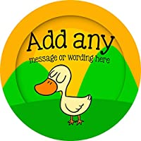 Duck Sticker Labels (48 Stickers, 4.5cm Each) Personalised Custom Seals Ideal for Party Bags Sweet Cones Favours Jars Presentations Gift Boxes Bottles Crafts