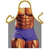 Tablier–culturiste musculaire homme–Drôles de photos Tablier–avec CERTIFICAT la DT. Griller Guilde
