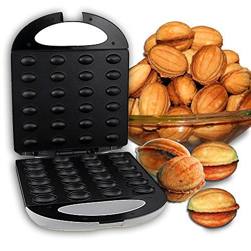 u Waffeleisen Nuss Nutmaker Nussmaker Nussbäcker 24 Nüsse