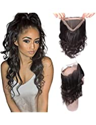360 lace frontal body wave tissage bresilienne closure 360 cheveux humain (16pouce)