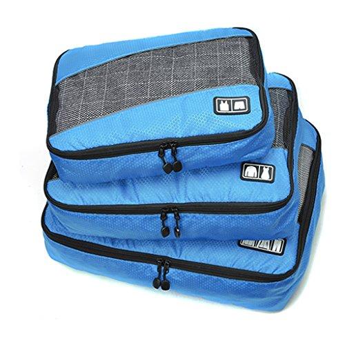 Kleidertaschen (3 Stück) - Kofferorganizer - Gepäck Veranstalter Beutel für Ihren im Urlaub oder Reise -