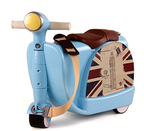 Borsa trolley per bambini giocattolo con contenitore giocattolo valigia può essere corsa per bambini di 3-6 protezione ambientale plastica ABS , blue