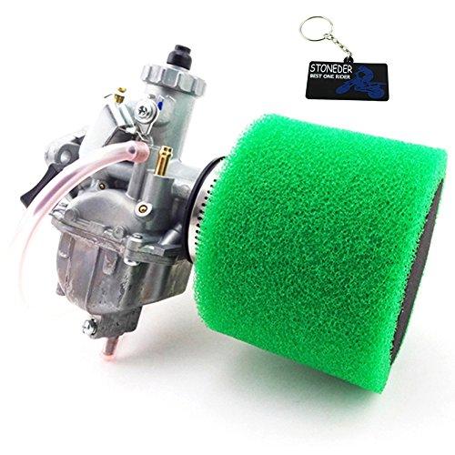ni Vergaser + 38mm Schaumstoff-Luftfilter für Lifan 012765Tastschalter Thumpstar YCF 125cc Pit Dirt Bike ()
