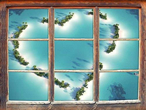 cuore-a-forma-di-isole-finestra-adesivi-murali-3d-formato-decorazione-della-parete-92x62cm-3d-wall-s