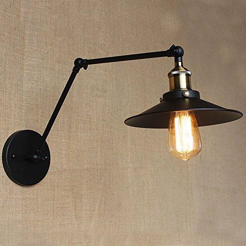 LIYAN minimalistische Wandleuchte Wandleuchte E26/E1761Wand Lampen Wandleuchten kreative Wandleuchten outdoor antiken Eisen Bett, Chrom Farbe (Rose-eisen-bett)