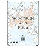 Mapa Mudo SELVI Color Din-A4 Asia Físico, Caja x50