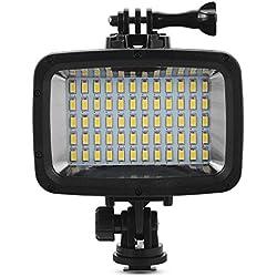 XCSOURCE 60 LED 1800lm Lampe de Plongée Lumière Vidéo Sous-Marine 40M Etanche pour GoPro Hero 3/4 Caméras sports DSLR LED LD846