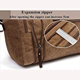 Aizbo-Large-Canvas-Holdall-Travel-Duffel-Bag-Overnight-WeekendWeekender-Bags-for-Men-and-Women-Expansion-Capacity58-2530cm