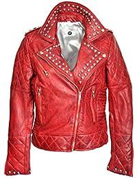 brand new 2999c 894c7 Suchergebnis auf Amazon.de für: Rote Lederjacke Damen ...