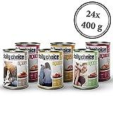 daily choice | 24 x 400 g | Nassfutter für Hunde | getreidefrei | Mix | 70% Frischfleisch- und Innereienanteil Optimale Verträglichkeit