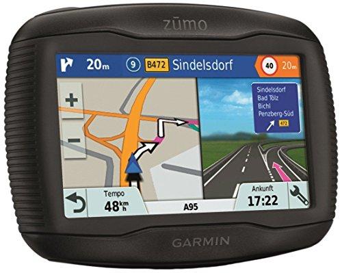 Garmin zumo 345LM CE Motorrad Navigationsgerät, Zentraleuropa Karte, lebenslangen Kartenupdates, Routenfunktion, Sicherheitshinweise, 4,3 Zoll (10,9 cm) Touchscreendisplay