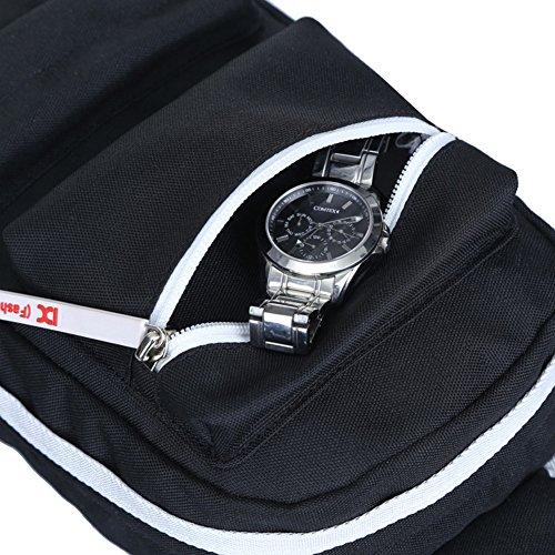 Super Moderne Schulter-Rucksack Sling Umhängetasche Cover Pack Rucksack für Fahrrad Sport Wandern Reisen Camping Segeltuch Gym Rucksack, Outdoor Wandern Tasche rose