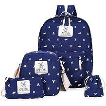 FTUNG Backpack Mochilas Escolares Mujer Mochila Escolar Lona Bolsa Casual Para Chicas Bolsa De Hombro Mensajero Billetera