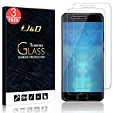 J&D [3-Pack] Huawei P10 Screen Protector, Glass Screen Protector [Tempered Glass] HD Clear Ballistic Glass Screen Protector for Huawei P10 - [Not for Huawei P10 Plus and Huawei P10 Lite]