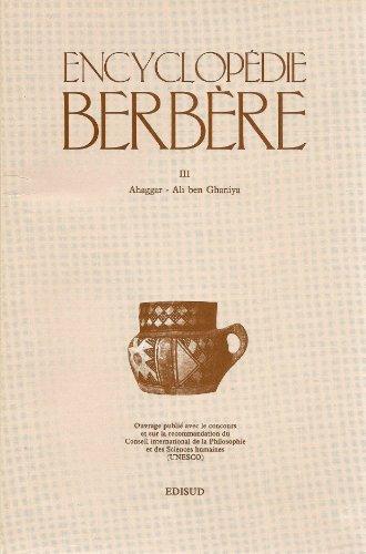 ENCYCLOPEDIE BERBERE. : Tome 3