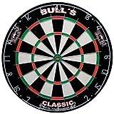 BULL'S Classic Bristle Dartboard / Dartscheibe, inkl. BULL's Wandhalterung