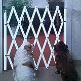 Romote Blanca 1pc para Mascotas Cerca de Aislamiento Perro de Perrito del Gato IsolationSimple Estirable Cerca de Madera Barrera de Seguridad de Madera