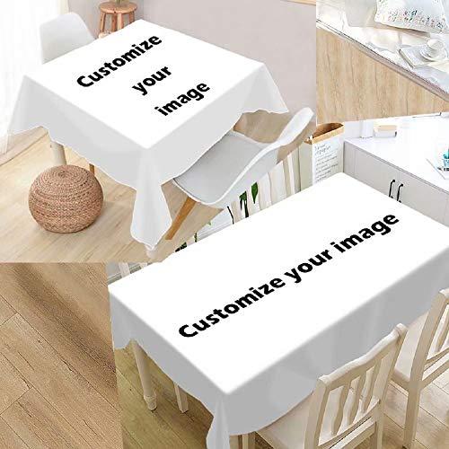 Hardon Personalisiert Pflanze Tischdecke abwaschbar Tischtuch Pflegeleichte Tischwäsche mit Foto Tischläufer Eckig viele Größe Farbe wählbar,60x60 cm