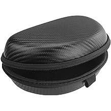Geekria Ultrashell auriculares funda para Logitech H600, H900auriculares, carcasa rígida funda de transporte/Auriculares bolsa de viaje con espacio para Cable, partes y accesorios (negro)