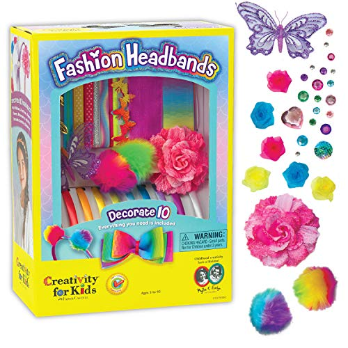 Creativity for Kids F901819 West Design Junior Selection Fashion Headbands Large Kit, Multi-Color