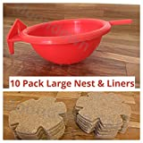 Canary Nest Pans Large and Jute Liners 10 PACK