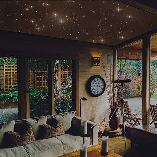 """PIXLUM - LED Sternenhimmel Deckenleuchte Lampe Deckenlampe Nachtlicht, Starterset 2""""warmweiß"""" (Foam)"""