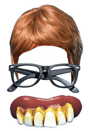 Austin Powers 3 Piece Fancy Dress Kit: Wig, Glasses & Teeth
