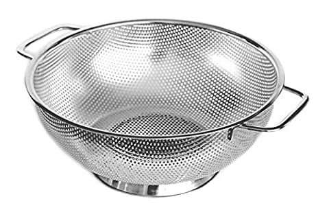 Cucinare Stainless Steel Colander 5-Quart Strainer for Cooking and Kitchen Use