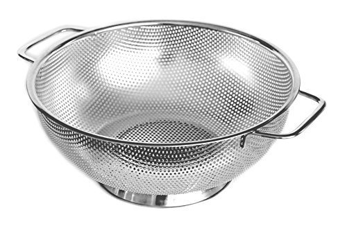 Cucinare Stainless Steel Colander 5-Quart Strainer for Cooking and Kitchen Use(Large) by Cucinare 5 Quart Colander
