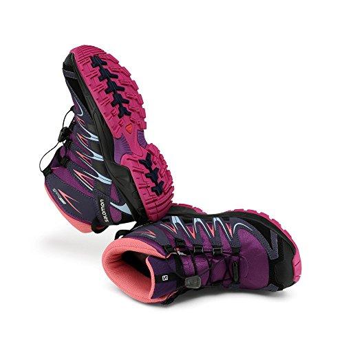Salomon  XA PRO 3D Mid K, Chaussures de trekking et randonnée mixte enfant Violet