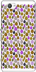 The Racoon Lean printed designer hard back mobile phone case cover for Sony Xperia Z1 Compact. (Yellow Lea)