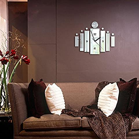 X&L DIY wall sticker orologio parete orologi e creativa muto incantesimo moda sticker orologio da parete , 2