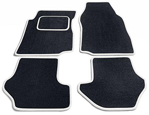 Preisvergleich Produktbild JediMats 42054L-Pre-Weiss-Schw Prestige Maßgeschneiderte Fußmatte für Ihr Auto, Schwarz