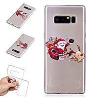 Samsung Galaxy Note 8 Case,Christmas Series Flexible Soft TPU Silcone Cover Ultra Slim Thin Transparent Bumper Extra Grip Case Anti-Scratch Full Edge Protective Shockproof Protective Gel Cover Case for Xmas Samsung Galaxy Note 8 - Christmas Sled