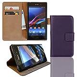 EximMobile Brieftasche Handytasche Flip Case Etui für Sony Xperia Z Ultra Lila