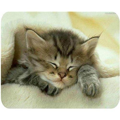 Gaming Mouse Pad rectangular Forma suave gato durmiendo sobre una manta personalizada Alfombrilla de ratón diseño durable de caucho natural Eco Escritorio Papelería Regalo Accesorios Alfombrillas de ratón para por D de 2016