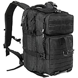 Rucksack Taktischer Militärischer Kompakt Wasserfester 45L Rucksäcke Fach für 2.5L Trinkblase, Erwachsene Trekking Wandern Radfahren Reisen Bergsteig Camping Backpack - ICCKER